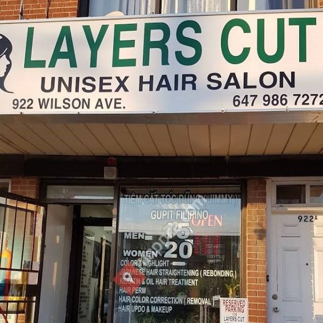 Layers Cut Unisex Hair Salon